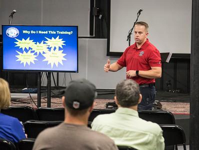 Active Shooter Training at Life Bible Fellowship Church, Aug. 2016