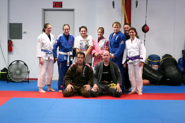 LDMA Women's Camp working BJJ with Paulo and Jory.