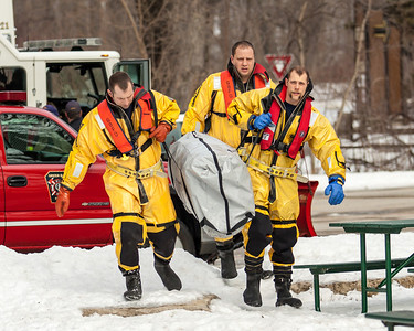 Ice Rescue Training 2-13-13
