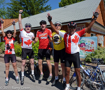 Feeling the excitement of the ride and the Canada Day holiday.
