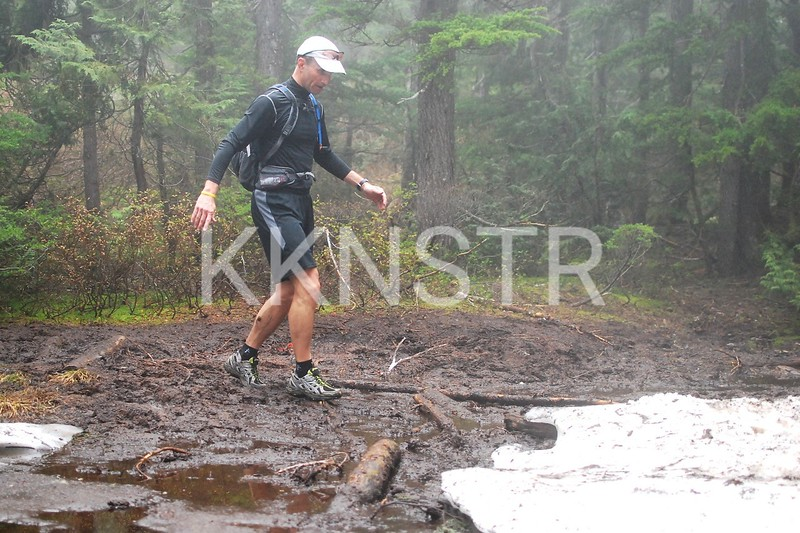 One of the mud holes.  The less muddier approach.