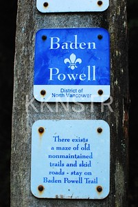 Traditional Baden Powell Signage