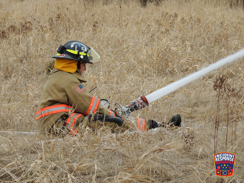 Firefighters conducted training on Gateway Drive in Sheboygan, Wisconsin on Friday, April 18, 2014. Photo by Asher Heimermann/Incident Response.