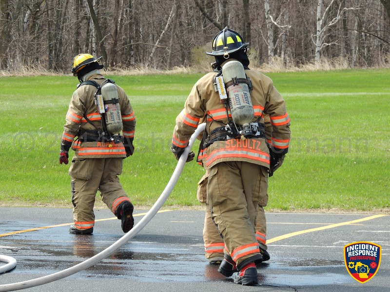 The Sheboygan Fire Department conducted training on the UW-Sheboygan grounds on Monday, May 5, 2014. Photo by Asher Heimermann/Incident Response.