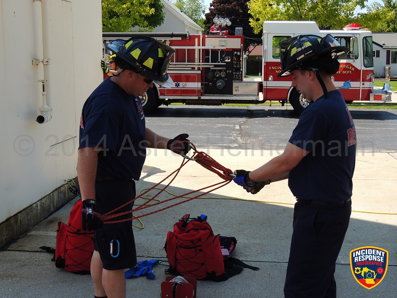 Ropes rescue training was held at Sheboygan Fire Station 3 in Sheboygan, Wisconsin on Thursday, June 5, 2014. Photo by Asher Heimermann/Incident Response.