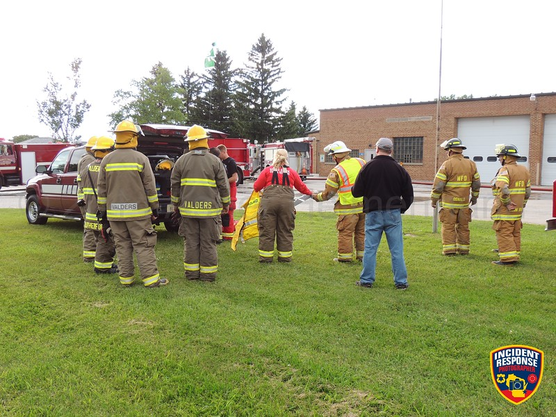 Branch Fire-Rescue hosted the Manitowoc County MABAS water movement drill in Manitowoc Rapids, Wisconsin on Tuesday, July 15, 2014. Photo by Asher Heimermann/Incident Response.