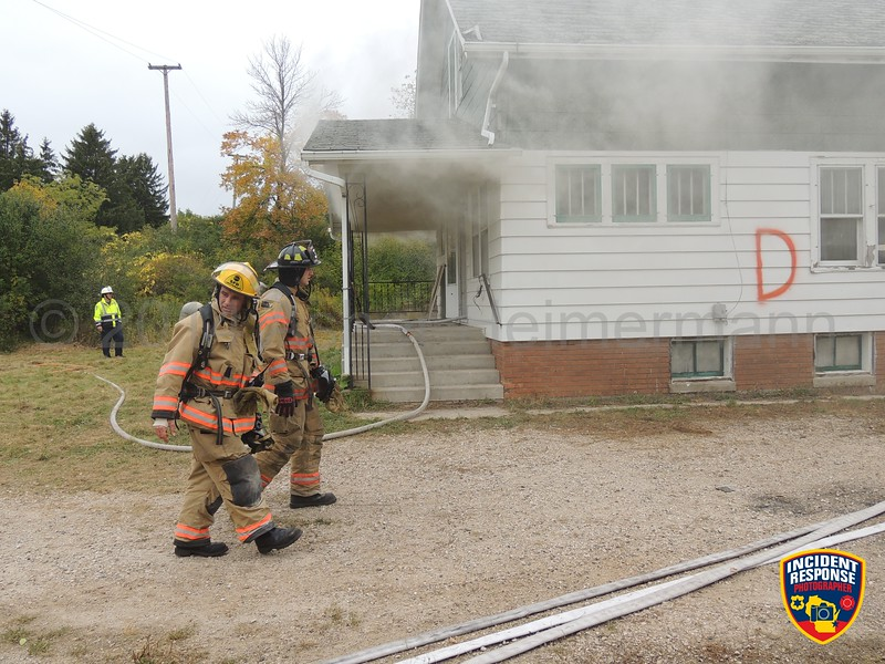 The Sheboygan Fire Department held live fire training on the Old Schuchardt Farm property in Sheboygan, Wisconsin on Tuesday, September 30, 2014. Photo by Asher Heimermann/Incident Response.