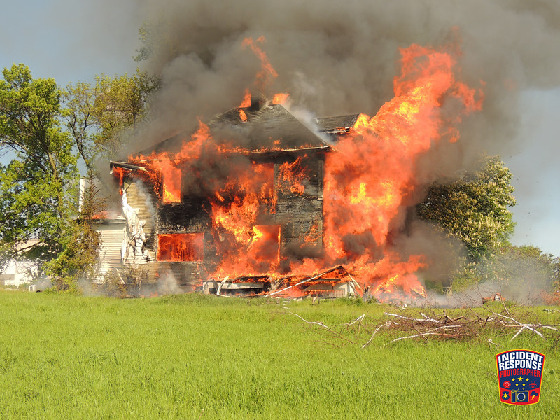 The Town of Sheboygan Fire Department conducted a house burn with the assistance from City of Sheboygan Falls and Haven fire departments at 4006 Highway 42 in Sheboygan, Wisconsin on Saturday, June 6, 2015. Photo by Asher Heimermann/Incident Response.