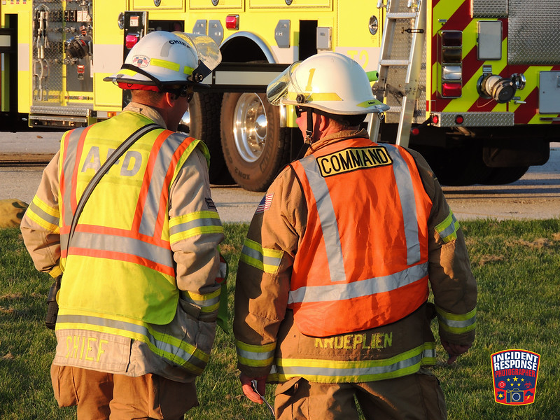 Firefighters from across Sheboygan County trained together at the Sheboygan County Airport in the Town of Sheboygan Falls, Wisconsin on Monday, September 14, 2015. Photo by Asher Heimermann/Incident Response.