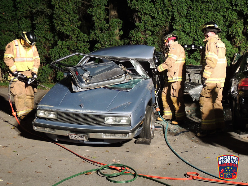 Firefighters from the Kohler Fire Department conducted vehicle extraction training on Monday, September 22, 2015. Photo by Asher Heimermann/Incident Response.