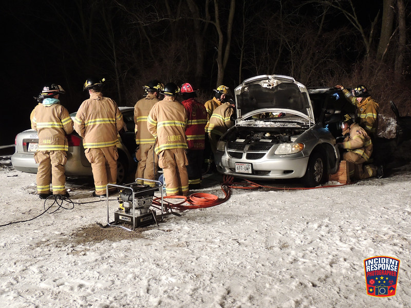 The Town of Sheboygan Falls Fire Department held extrication training on Monday, December 18, 2017. Photo by Asher Heimermann/Incident Response.