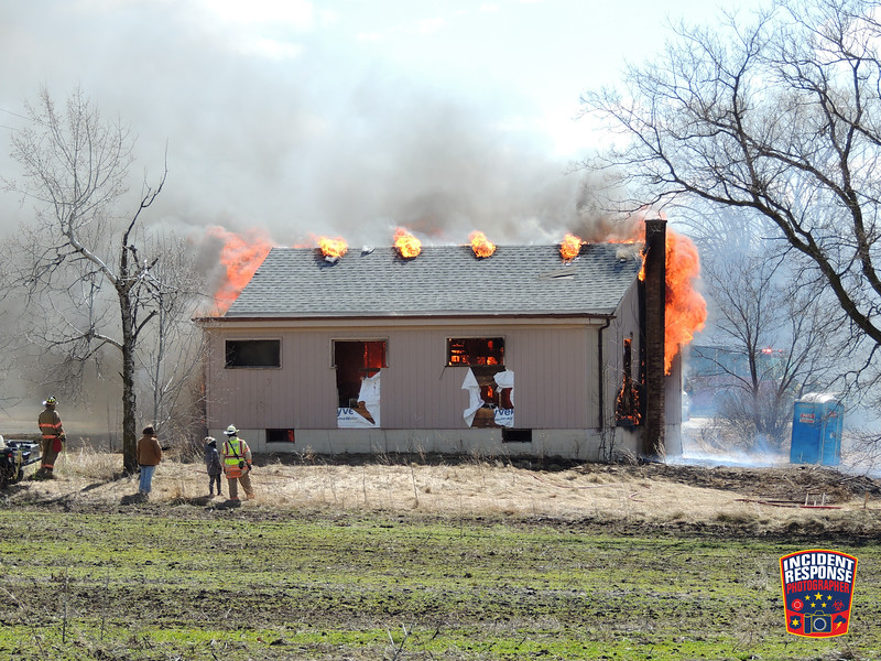 Raymond Fire & Rescue conducted a house burn along with several Racine County fire departments near 76th Street and Waukesha Road in Raymond, Wisconsin on Sunday, March 28, 2021. Photo by Asher Heimermann/Incident Response.
