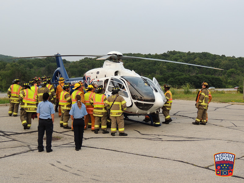 The Slinger Fire Department hosted a landing zone safety class with LifeNet 3-2 near Interstate 41 and Highway 144 in Slinger, Wisconsin on Tuesday, July 20, 2021. Photo by Asher Heimermann/Incident Response.