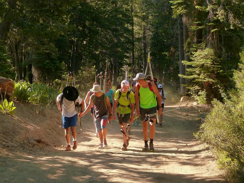 basinpeakski-2014_hike-up-road