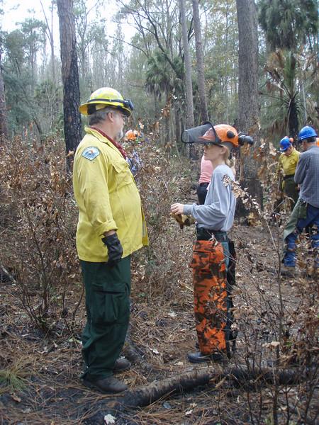 Training session Jan 2008, Hillsborough River State Park <br /> photo credit: Deb Blick / Florida Trail Association