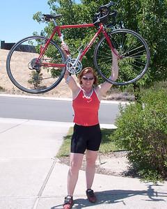 Newer, lighter bike.  June 2009