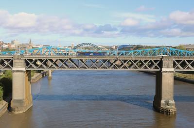 3) 66 301 at Newcastle King Edward VII Bridge on 23rd September 2021