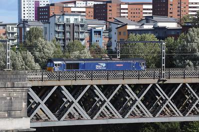1) 66 301 at Newcastle King Edward VII Bridge on 23rd September 2021