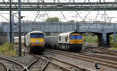 91110 & 66794 at Doncaster on 24th September 2021