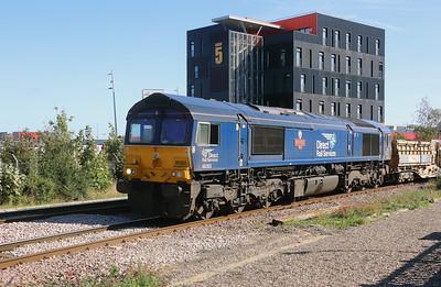 66303 at Middlesbrough on 22nd September 2021