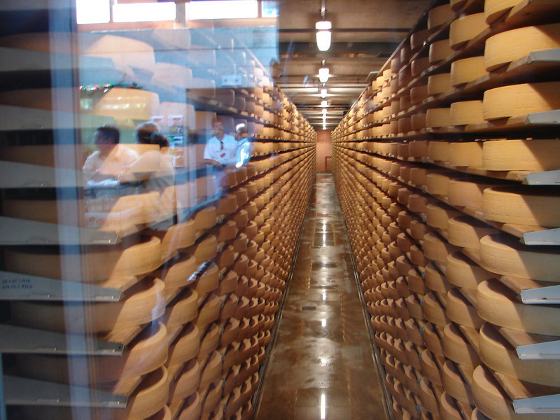 cellar used to mature 7,000 wheels of cheese