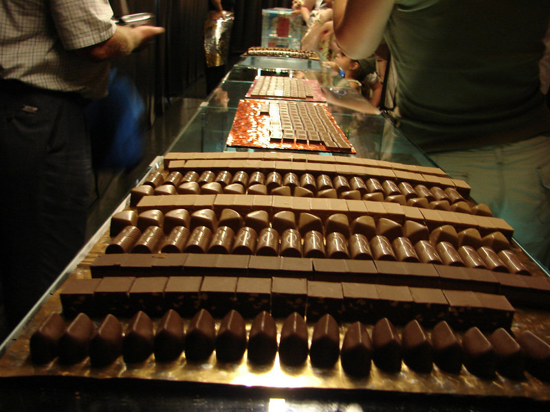 Chocolate buffet at Cailler the chocolate factory