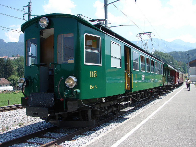The second train goes from Gruyères to Broc