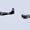 """Grumman F7F Tigercat """"Bad Kitty"""" and Grumman F8F Bearcat """"Wampus Cat"""""""