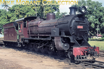 EAR: East African Railways and Harbours Locomotive class: EB3 Wheel arrangement: 4-8-0 Engine no.: 2412 Builder: Vulcan Foundry Location: Morogoro, Tanzania Date: not stated