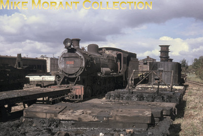 EAR: East African Railways and Harbours Locomotive class: EB3 Wheel arrangement: 4-8-0 Engine no.: 2412 Builder: Vulcan Foundry Location: not stated Date: 11/74