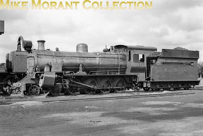 Kenya Uganda Railway Locomotive class: EB1 or EB2 Wheel arrangement: 4-8-0 Engine no.: 193 Builder: Nasmyth Wilson or NBL Location: not known Date: pre-1948