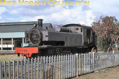 EAR: East African Railways and Harbours Locomotive class: ED1 Wheel arrangement: 2-6-2T Engine no. & name: 327 (EAR 1117) Builder: Vulcan Foundry Location: Nairobi Railway Museum Date: 11/74