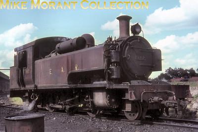 EAR: East African Railways and Harbours Locomotive class: ED1 Wheel arrangement: 2-6-2T Engine no.: 1110 Builder: Vulcan Foundry Location: Nairobi Date: 4/7/67