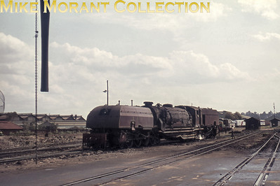EAR: East African Railways and Harbours Locomotive class: 59 'Mountain' Wheel arrangement: 4-8-2 + 2-8-4 Beyer Garratt Engine no. & name: not legible Builder: Beyer, Peacock & Co. Ltd. Location: Nairobi Date: 8/73