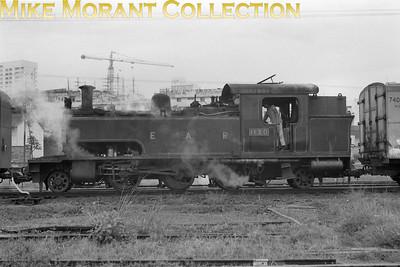 EAR: East African Railways and Harbours Locomotive class: ED1 Wheel arrangement: 2-6-2T Engine no.: 1130 Builder: Vulcan Foundry Location: Kampala, Uganda Date: 1971
