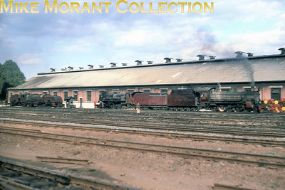 EAR: East African Railways and Harbours Locomotive class: 24 & 30 Wheel arrangement: 4-8-0 & 2-8-4 Engine no. And name: 2402 & 3020 Nyaturu Builder: Vulcan Foundry & NBL respectively  Location: Nairobi Date: 8/77