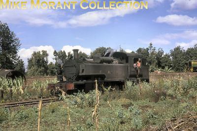 EAR: East African Railways and Harbours Locomotive class: ED1 Wheel arrangement: 2-6-2T Engine no.: 1110 Builder: Vulcan Foundry Location: Nairobi Date: 11/74