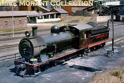 """South African industrial steam railways In industrial service at Albion Collieries (near Witbank) in 1974 is ex-South African Railways 4-8-0 No. 1050 depicted here as AC no. 2. Developed from the classic Cape Government Railways 7th class goods locomotives, this one had been built by Neilson Reid (Glasgow) under works number 5833/1900 to the order of the Imperial Military Railways, who were administering the railway systems of the Transvaal and Orange Free State during the Boer War. Initially allocated IMR No. 126, it was renumbered 396 upon the establishment of the Central South African Railways (1902) and later passed into SAR ownership following the Union of 1910, when it received the classification 7B.  [A.E. """"Dusty"""" Durrant / Mike Morant collection]"""