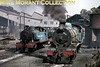 """South African industrial steam railways.<br> Witbank Colliery 4-8-2T No. 3 - built new for the mine by the North British Locomotive Company [under Hyde Park (Glasgow) works number 24599/1939] and 4-8-2 locomotive No. 2 in the loading yard at Minaar in 1975. The purpose-built industrial 4-8-2 was based on the SAR class 12A design. It had been built by the North British Locomotive Company [under Queens Park (Glasgow) works number 25906/1947] and first worked at Douglas Colliery.<br> [A.E. """"Dusty"""" Durrant / <i>Mike Morant collection</i>]"""