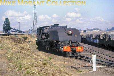Zimbabwe Steam railways 15th class Beyer Garratt 4-6-4 + 4-6-4 no. 376 circa 1995. [Photographer not known/Mike Morant collection]
