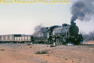 Botswana Steam railways No. 3 is a 19D class 4-8-2 seen here in industrial service with Bamangwato Concessions Ltd.(BCL) at Selibe Phikwe circa 1995. [Photographer not known/Mike Morant collection]