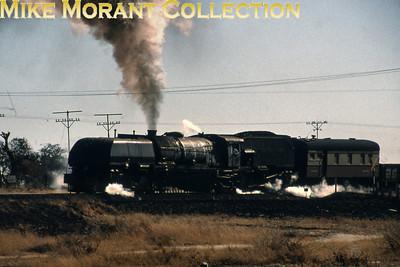 Zimbabwe Steam railways An unidentified 20th class Beyer Garratt 4-8-2 + 2-8-4 on railfans duties circa 1995. [Photographer not known/Mike Morant collection]