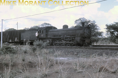 Rhodeais Railways An unidentified RR 4-8-2 shunts in fading light at Livingstone (Zambia) in December 1972. [Jim Tinneny/Mike Morant collection]