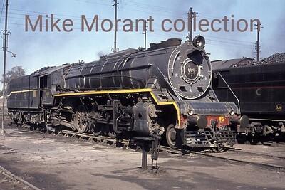 Central Railway WG class mikado no. 8660 at Ajni Junction mpd in 1976. [Mke Morant collection]