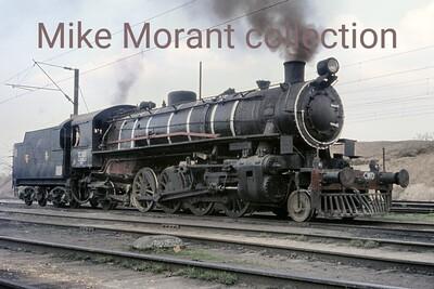 Eastern Railway CWD class mikado no. 12283 at Naihati on 4/3/76. [Mke Morant collection]