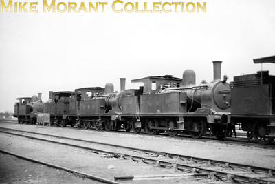 North Western Railway pre-partition Indian steam locomotives. NWR 'ST' class 0-6-2T's nos. 743 and 741. both were built by NBL in 1913 with works nos. 20357 and 20070 respectively. According to my reference source neither of these locos survived until the 1947 partition. [Mike Morant collection]