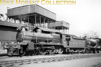 Pre-partition Indian steam locomotive. Bombay Baroda & Central India Railway 'H' class broad gauge 4-6-0 no. 562 on shed. No. 562 had been built by William Beardmore with works no. 591 in 1923. [Mike Morant collection]