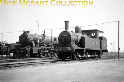 North Western Railway pre-partition Indian steam locomotive. NWR 'ST' class 0-6-2T no. 738 was built by NBL in 1904 with works nos. 16600. According to my reference source no. 738 didn't survive until the 1947 partition. [Mike Morant collection]