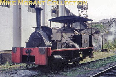 Columbo Port Commission 0-4-0ST no. 11 was built by Hunslet with works no. 690/1899 and is depicted here at Onse Fats Corp.,Seeduwa on 19/2/76. [Mike Morant collection]
