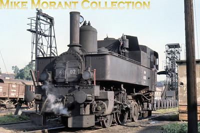 Austrian steam locomotive ÖBB 2-2-2 tank engine no. 69.02 at Wien Franz Josefs shed on 16/6/67.